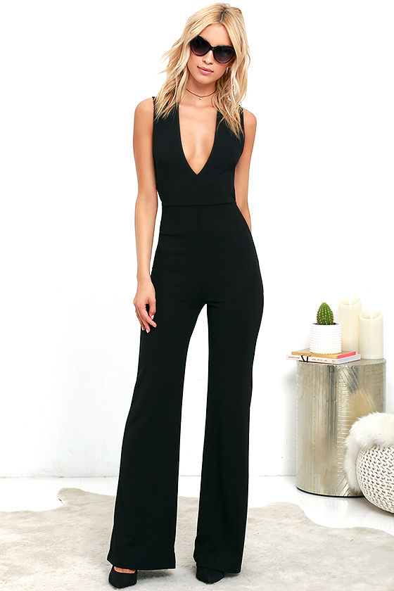 Chic Black Jumpsuit - Backless Jumpsuit - Sleeveless Jumpsuit - $49.00