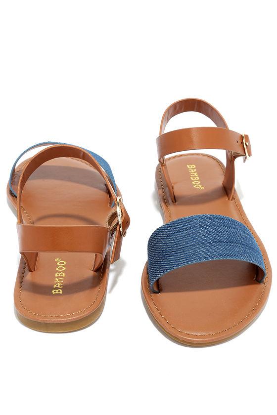 df881eb38cc Cute Flat Sandals - Tan Sandals - Vegan Sandals -  15.00