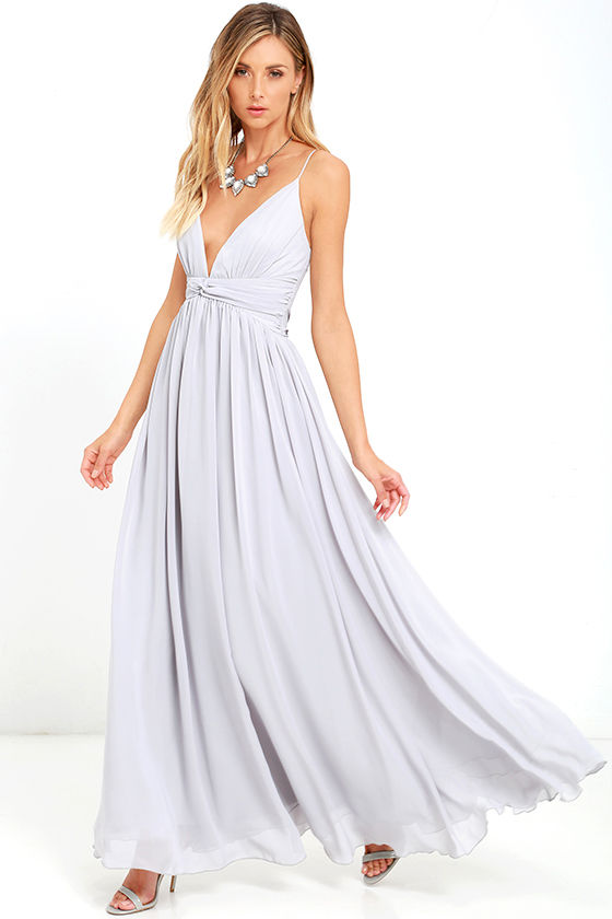 a2fb8915aa41c Lovely Grey Dress - Maxi Dress - Bridesmaid Dress - Formal Dress - $126.00