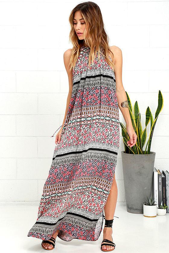 2117554b9ad33f Boho Dress - Lavender Print Dress - Maxi Dress - $59.00