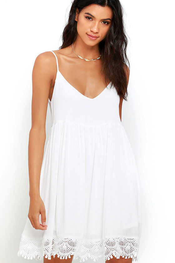 Rhiannon Ivory Lace Babydoll Dress 1