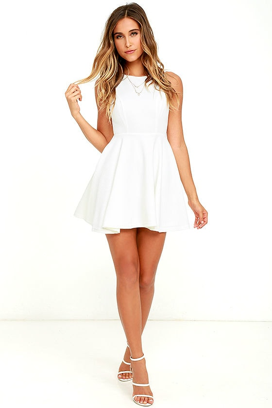 Gal About Town White Skater Dress 2