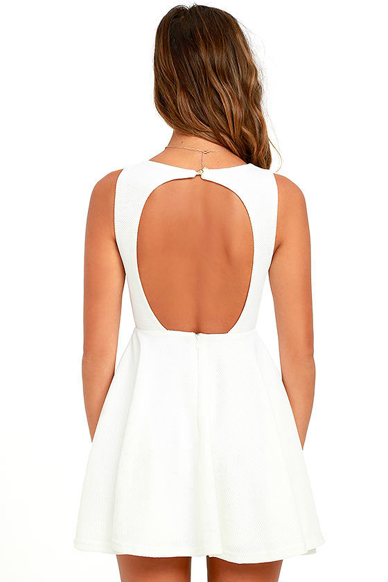 Gal About Town White Skater Dress 4