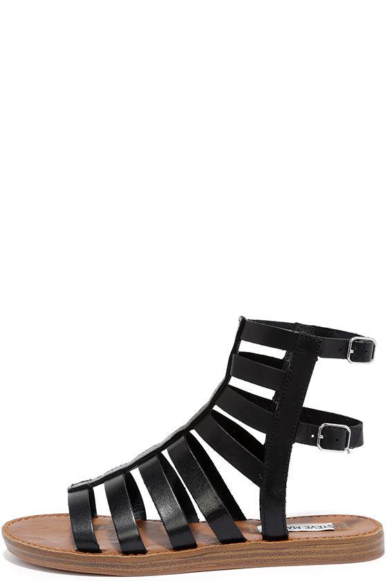 917fe72298339 Steve Madden Beeast - Black Sandals - Gladiator Sandals -  79.00
