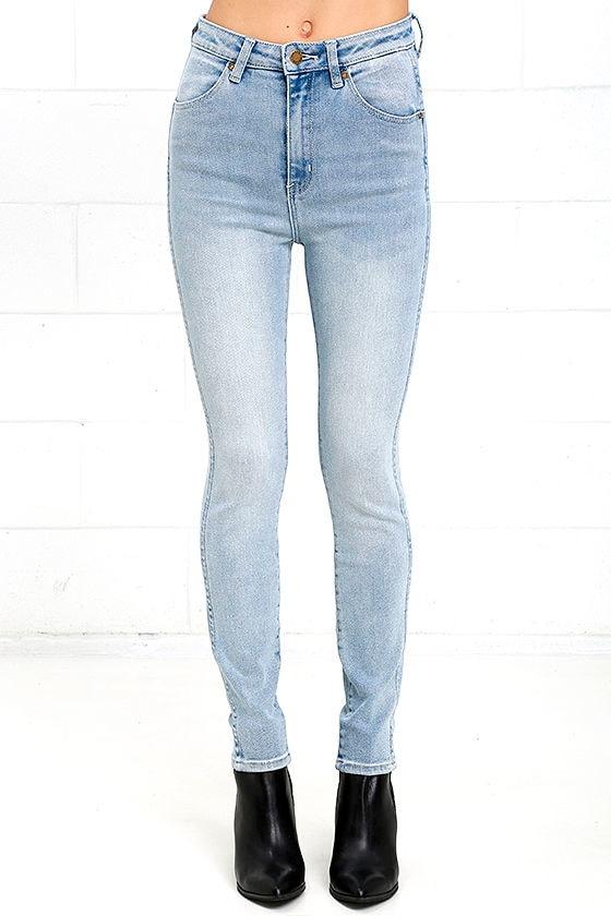84d383e38e9 Rollas Eastcoast Ankle Christy Blue High-Waisted Skinny Jeans