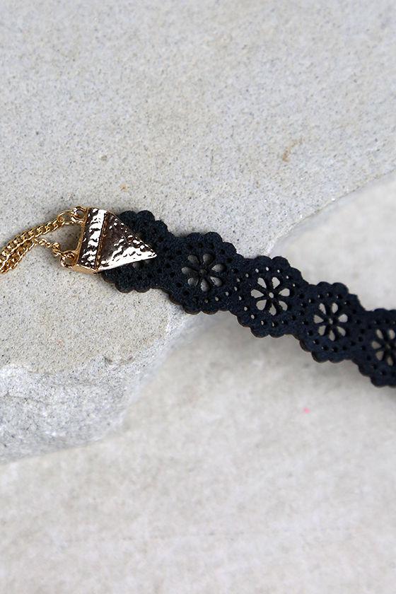 How Do You Do? Black Choker Necklace 3