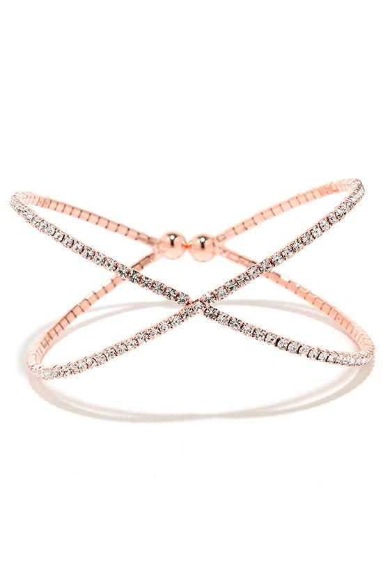 Extra Special Rose Gold Rhinestone Bracelet 1