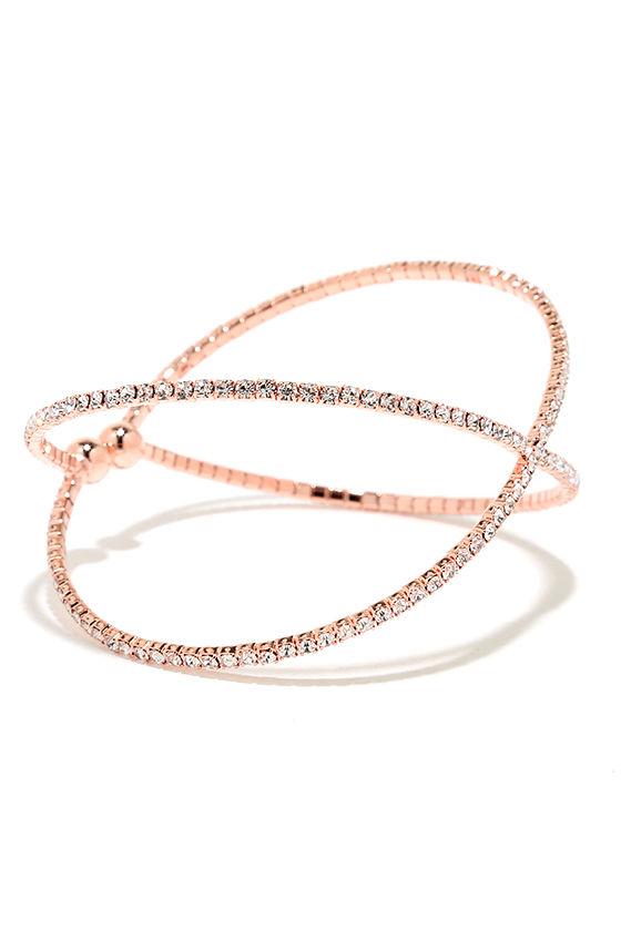 Extra Special Rose Gold Rhinestone Bracelet 3