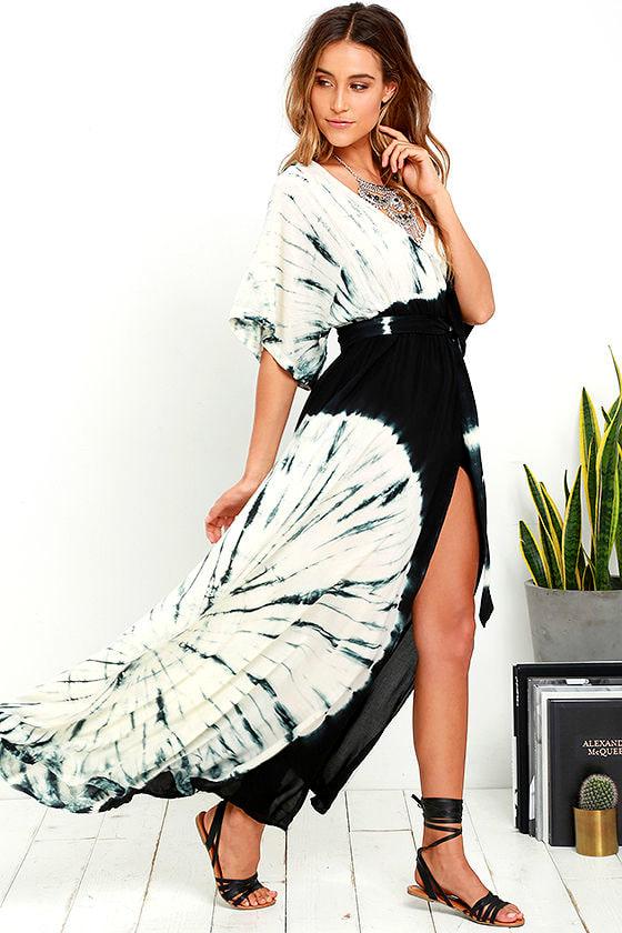 Needed Me Black Tie-Dye Maxi Dress 2