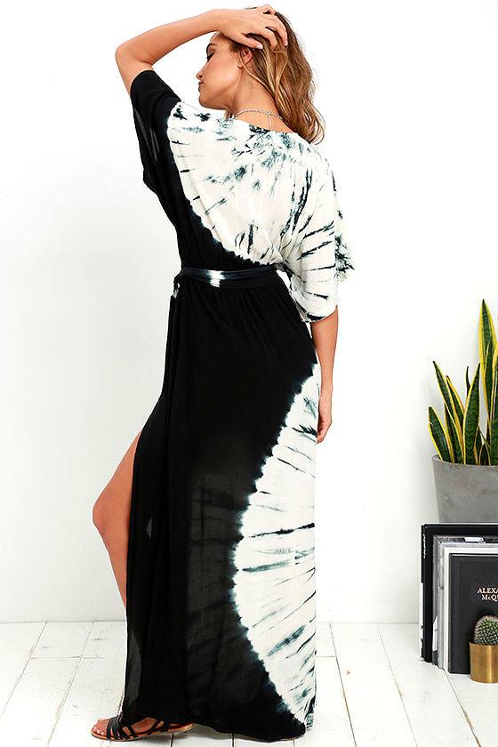 Needed Me Black Tie-Dye Maxi Dress 3