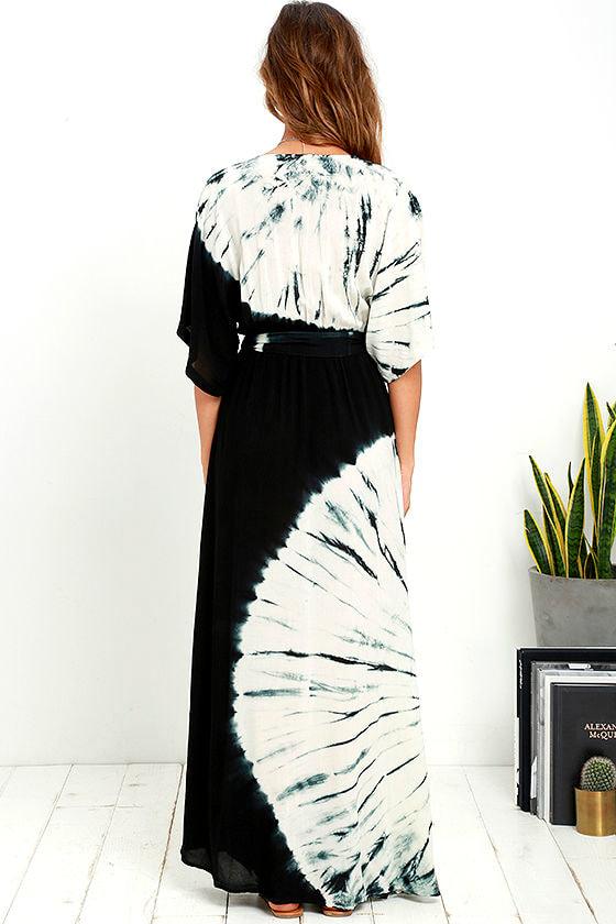 Needed Me Black Tie-Dye Maxi Dress 4