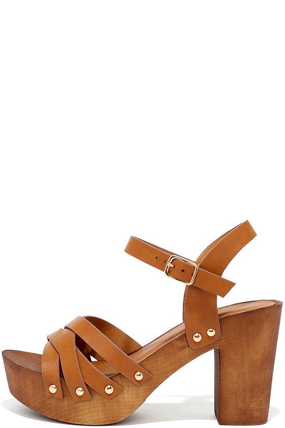 9f224531251f Cute Camel Heels - Platform Heels - Strappy Heels -  26.00