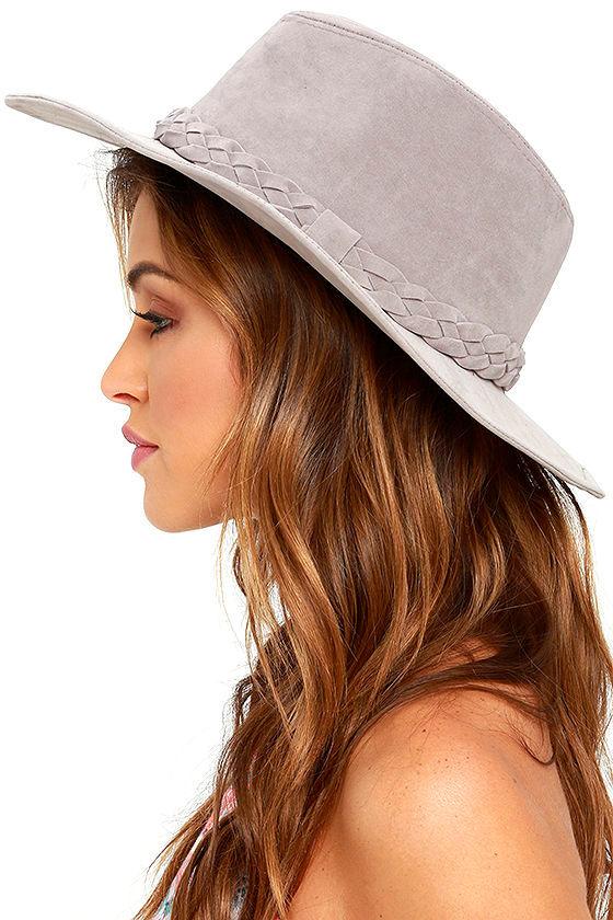 Boho Velvet Hat - Grey Hat - Fedora Hat -  18.00 b5d430108e9