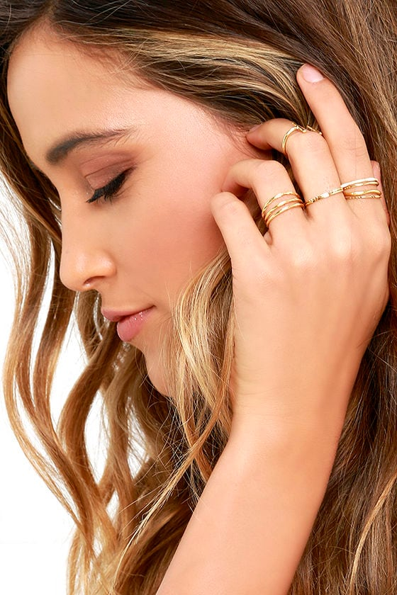 Girls Night Out Gold Ring Set 1