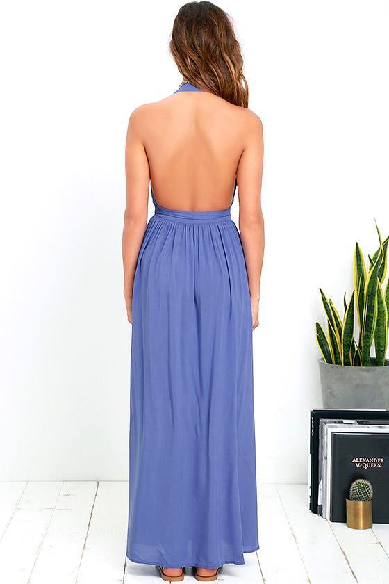 Magical Movement Periwinkle Blue Wrap Maxi Dress 4