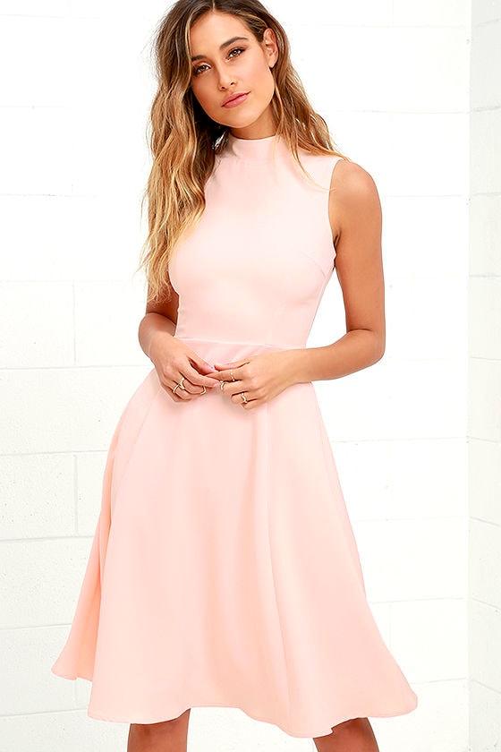7b0b6e62dafd Lovely Peach Dress - Midi Dress - Sleeveless Dress - $62.00
