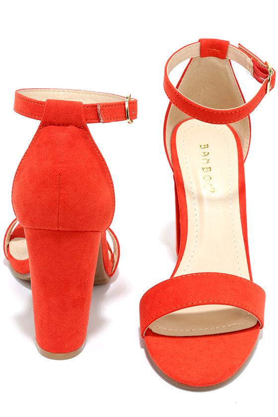 a7ba141277ebe Cute Orange Heels - Ankle Strap Heels - Dress Sandals -  28.00