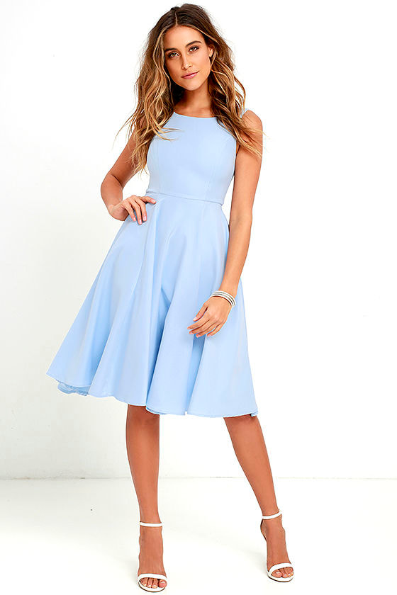 cc42d74a4cce Lovely Periwinkle Blue Dress - Midi Dress - Sleeveless Dress - $59.00