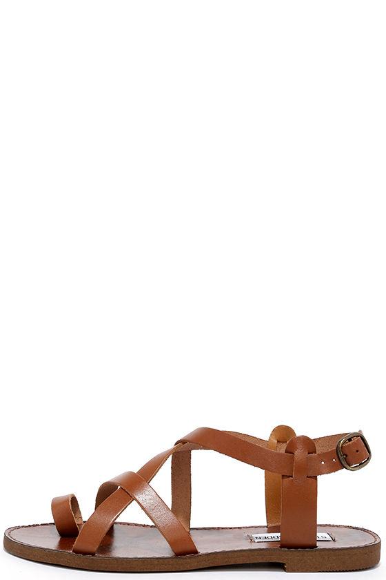 87f3167ac86 Cute Cognac Sandals - Flat Sandals - Gladiators -  59.00