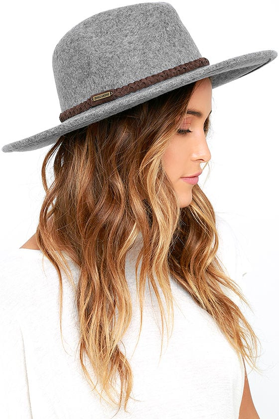 6c60a3d2a07de Billabong Daydream Hat - Heather Grey Fedora - Wool Hat -  39.95