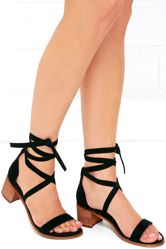 6aca014587f Cute Suede Heels - Heeled Sandals - Black Heels -  79.00