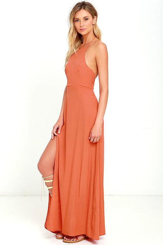 Pink and Orange Maxi Dress