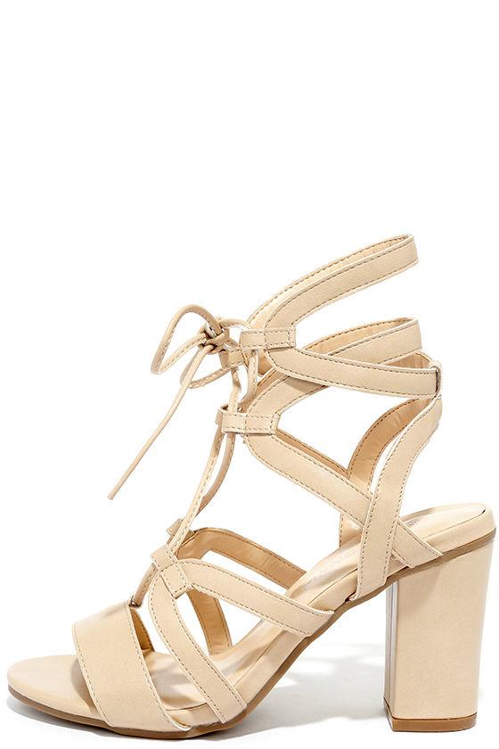 laced heels