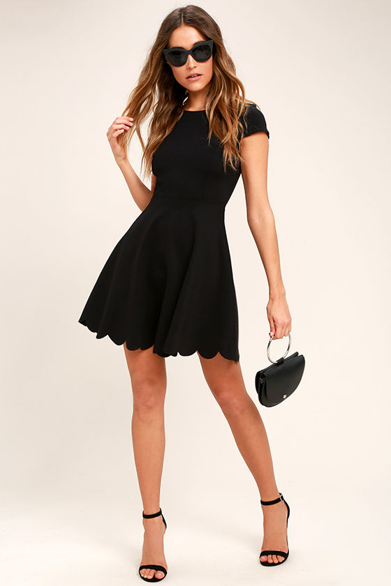 Proof of Perfection Black Skater Dress 2