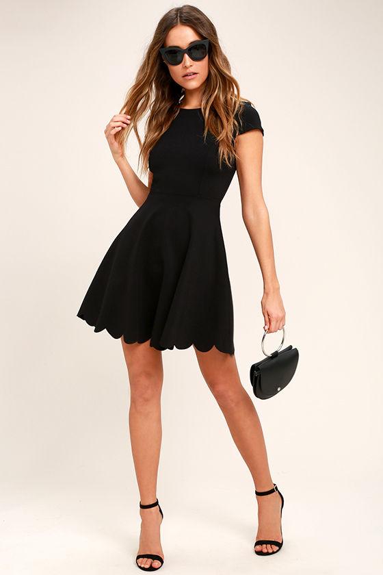 3a5d515dfa90 Cute Black Dress - LBD - Skater Dress - Fit-and-Flare Dress -  52.00