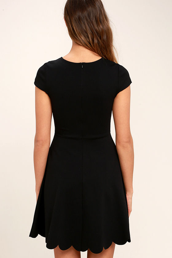 Proof of Perfection Black Skater Dress 4