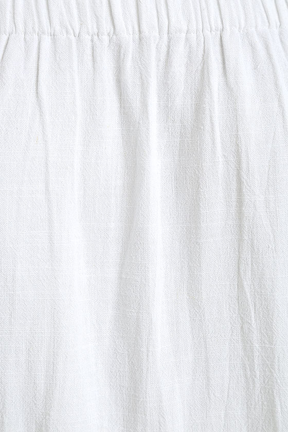 Al Fresco Evenings Ivory Off-the-Shoulder Dress 8