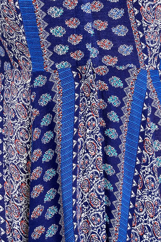 I'm Worth It Royal Blue Print Midi Dress 6