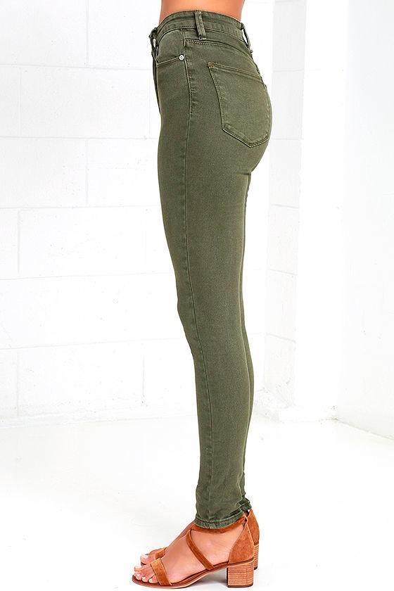 RES Denim Harry's Hi - Olive Green Jeans - High-Waisted Jeans ...