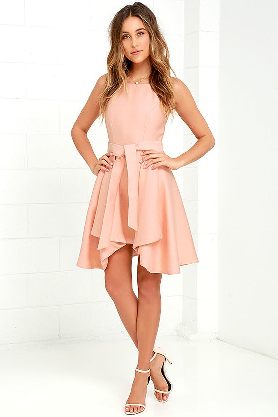 C/MEO Two Can Win - Peach Dress - Skater Dress - $199.00