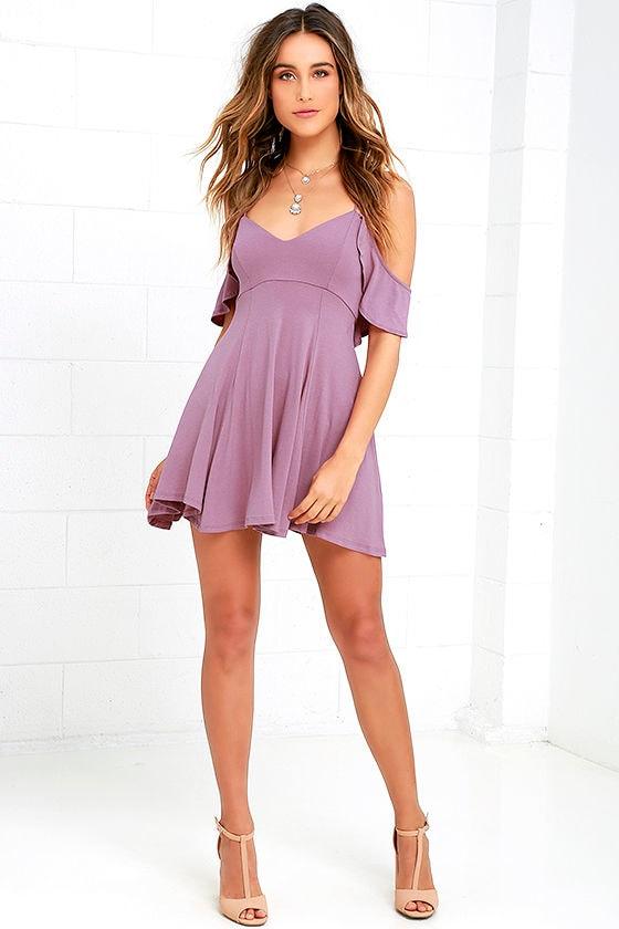 52c904c934d Skater Dress - Backless Dress - Mauve Dress -  44.00