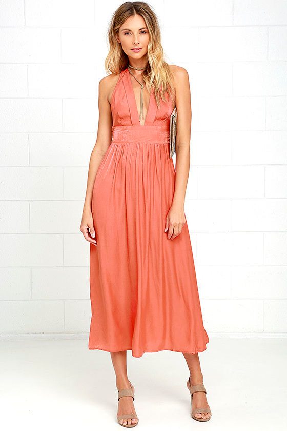 Somedays Lovin\' Ludo - Burnt Orange Dress - Midi Dress - $119.00
