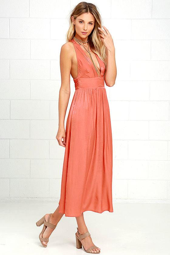 d6cec1416661 Somedays Lovin' Ludo - Burnt Orange Dress - Midi Dress - $119.00