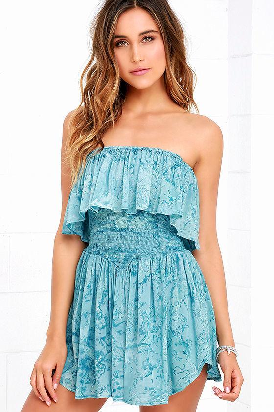 2f6a7bd8ef0 Blue Life Festival - Turquoise Tie-Dye Skort Dress