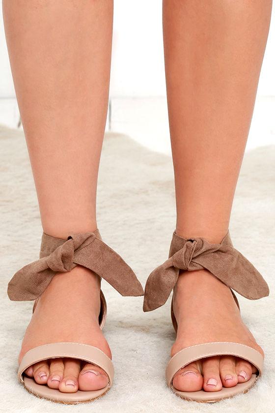 9511e26e5a4d5f Cute Sandals - Flat Sandals - Ankle Wrap Sandals -  23.00
