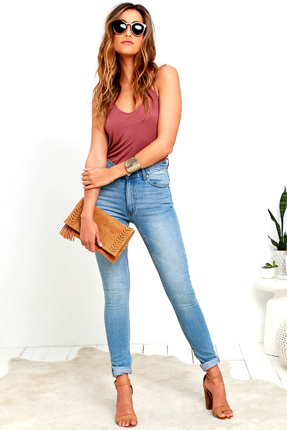 Cheap Monday Second Skin - High-Waisted Jeans - Skinny Jeans - $75.00
