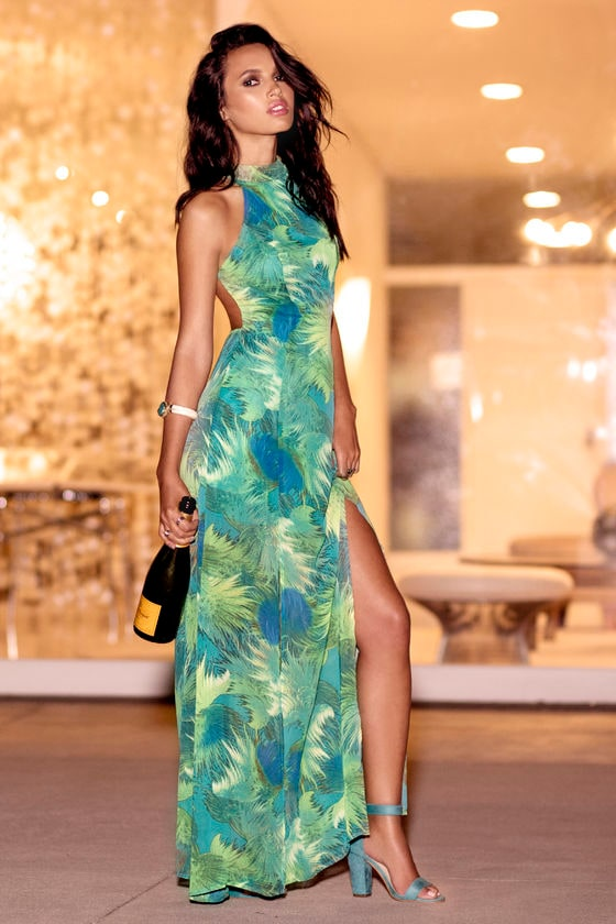 Tropical maxi dresses