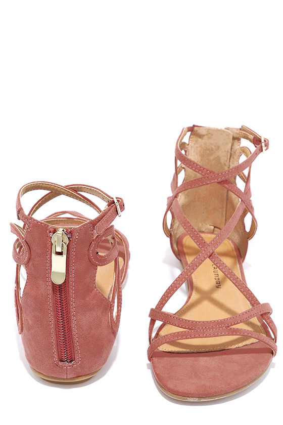 129c793616ae Chinese Laundry Penny - Suede Sandals - Gladiator Sandals -  60.00