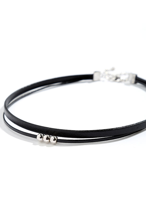 Common Ground Black and Silver Choker Necklace 3
