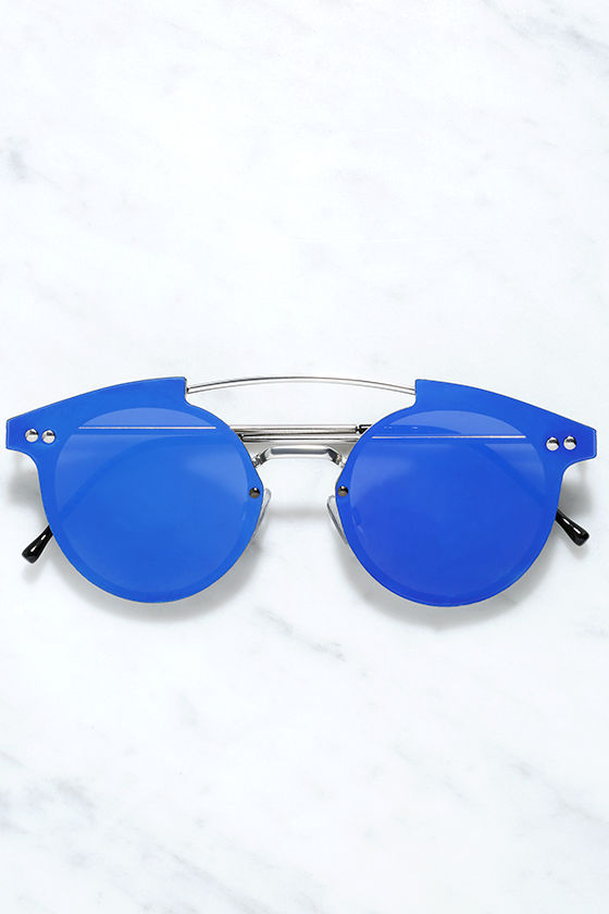 Spitfire Trip Hop Blue Mirrored Sunglasses 1