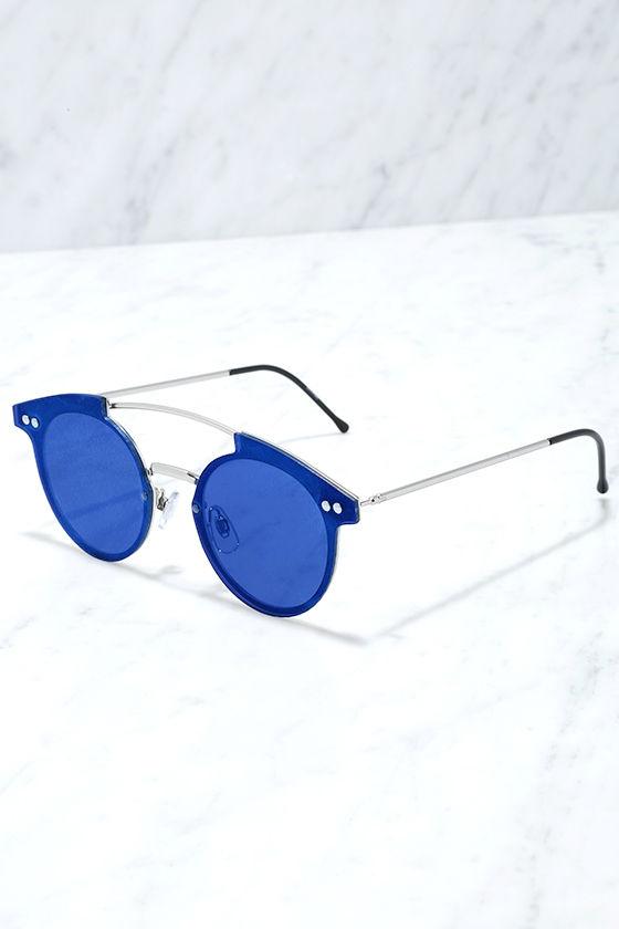 Spitfire Trip Hop Blue Mirrored Sunglasses 3