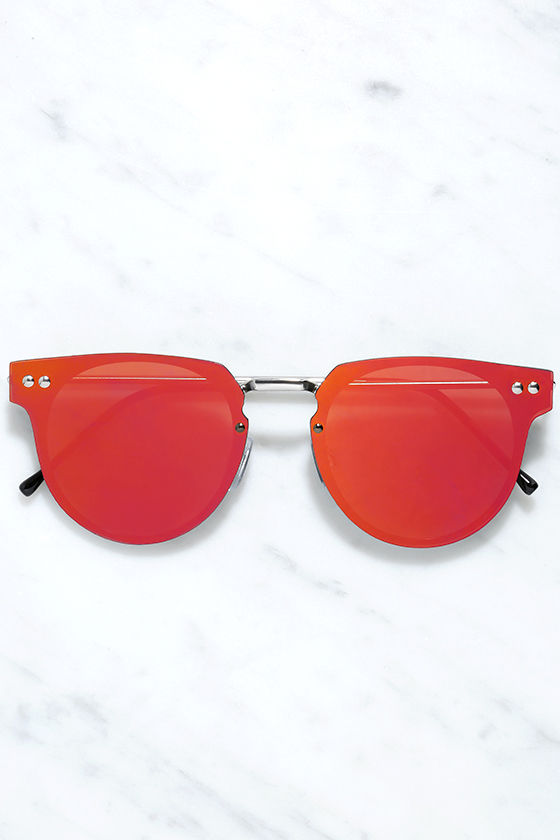 Red Sunglasses  spitfire cyber sunglasses silver and green sunglasses 45 00