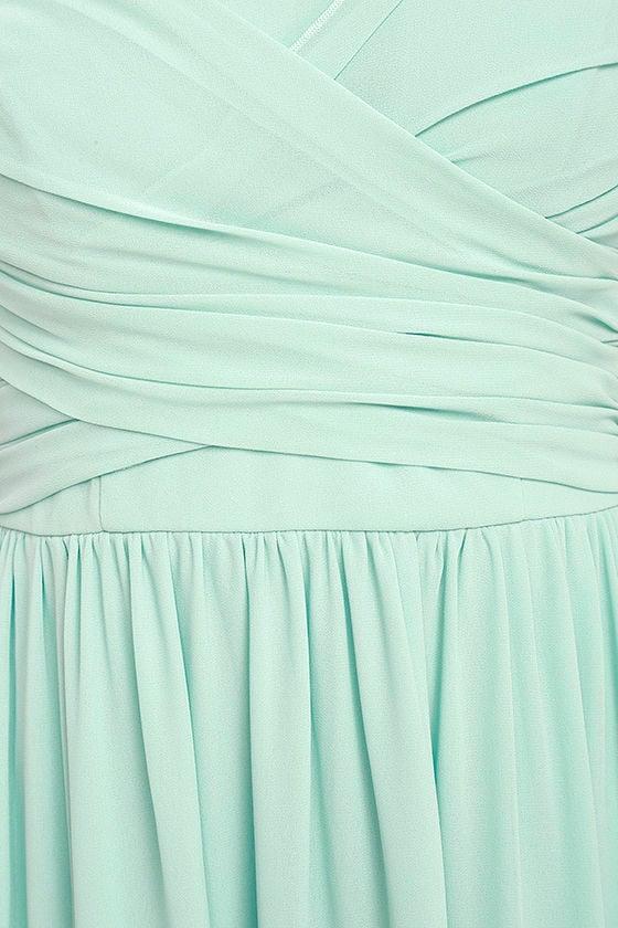 All Afloat Mint Blue Strapless Maxi Dress 6