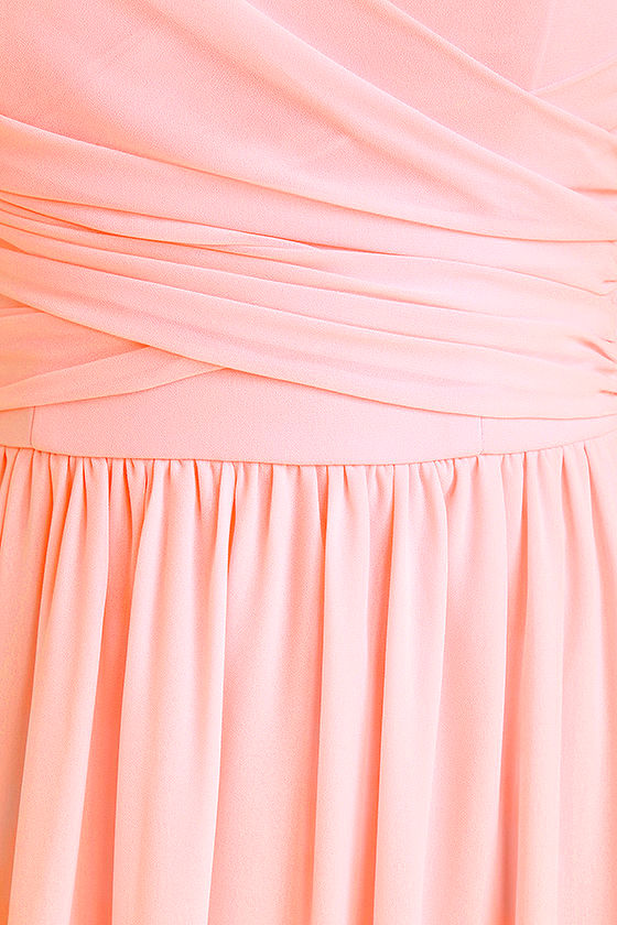 All Afloat Blush Pink Strapless Maxi Dress 6
