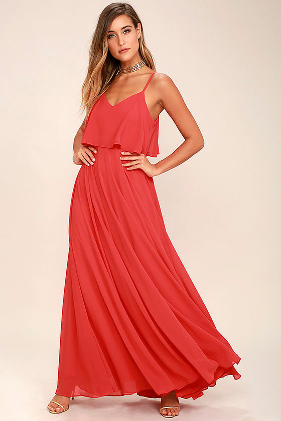 0a58929c6270 Stunning Red Dress - Maxi Dress - Gown -  78.00