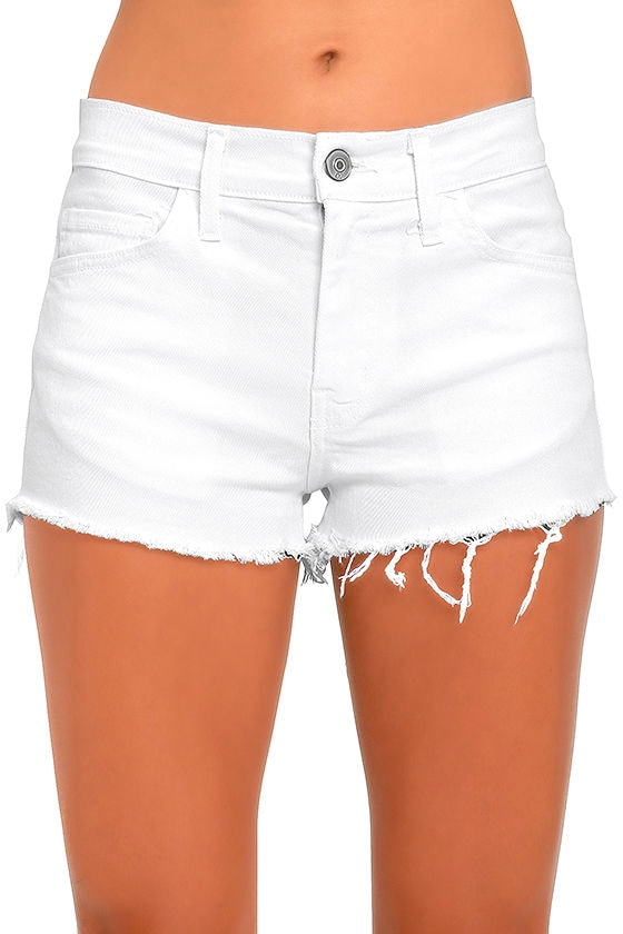 Cool White Shorts - Cutoff Shorts - Denim Shorts - $43.00